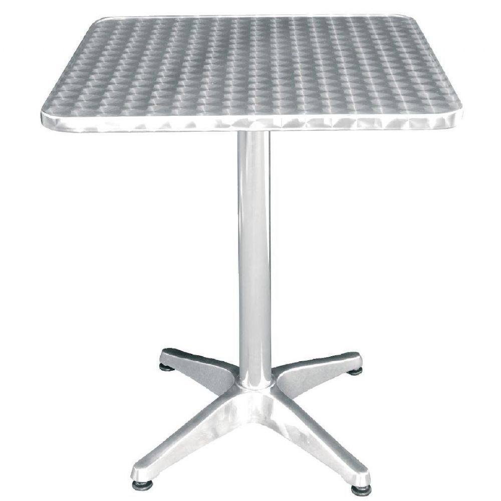 Bolero Square Bistro Table Stainless Steel 600mm - U427